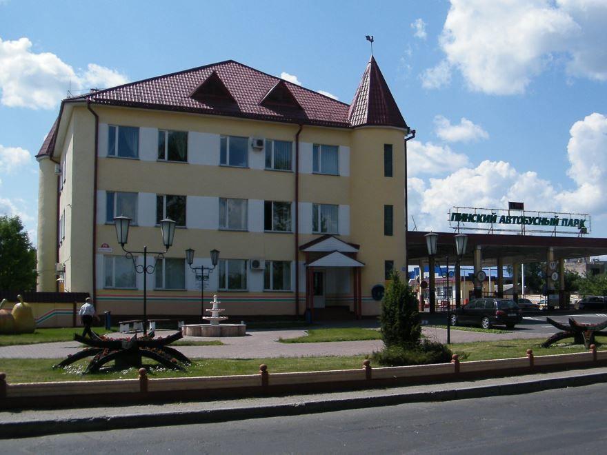 Автобусный парк город Пинск