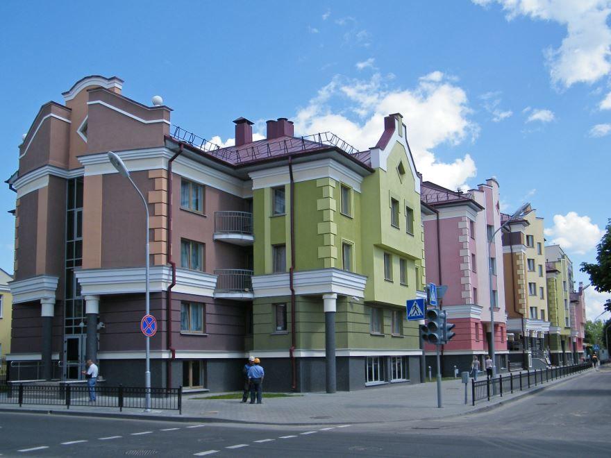 Новый квартал города Пинска Белоруссия