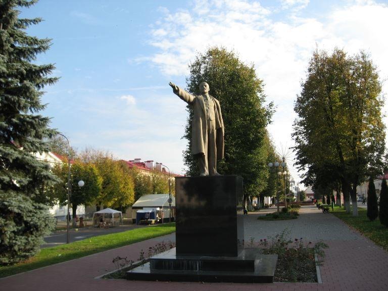 Памятник В.И. Ленину город Слоним Белоруссия