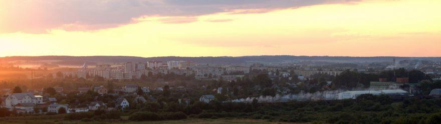 Смотреть красивое фото панорама города Заславль