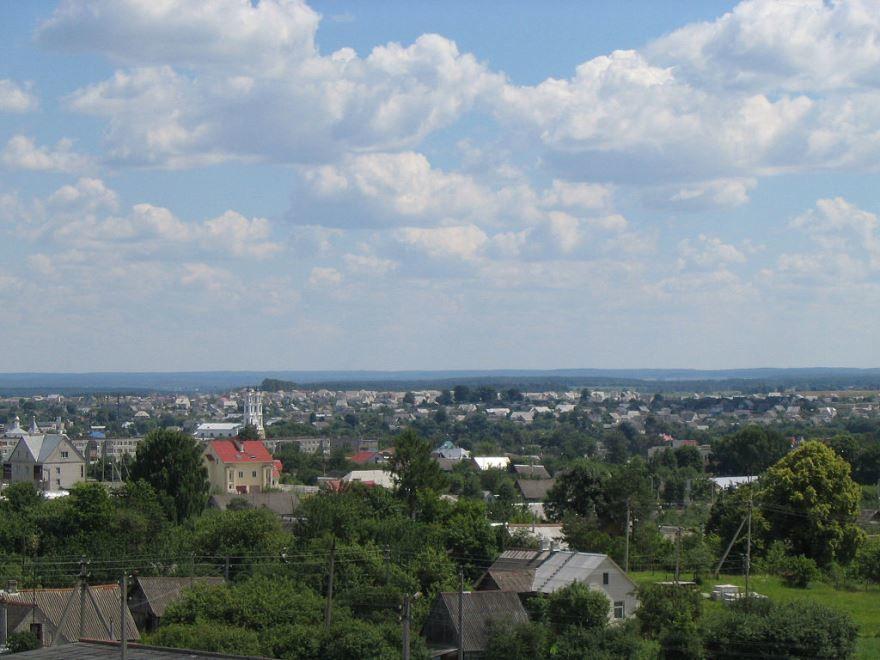 Панорама города Ошмяны Белоруссия