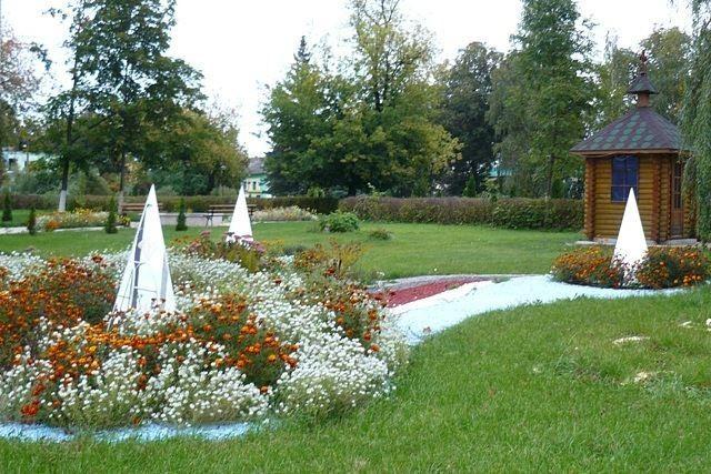 Парк в городе Поставы Белоруссия