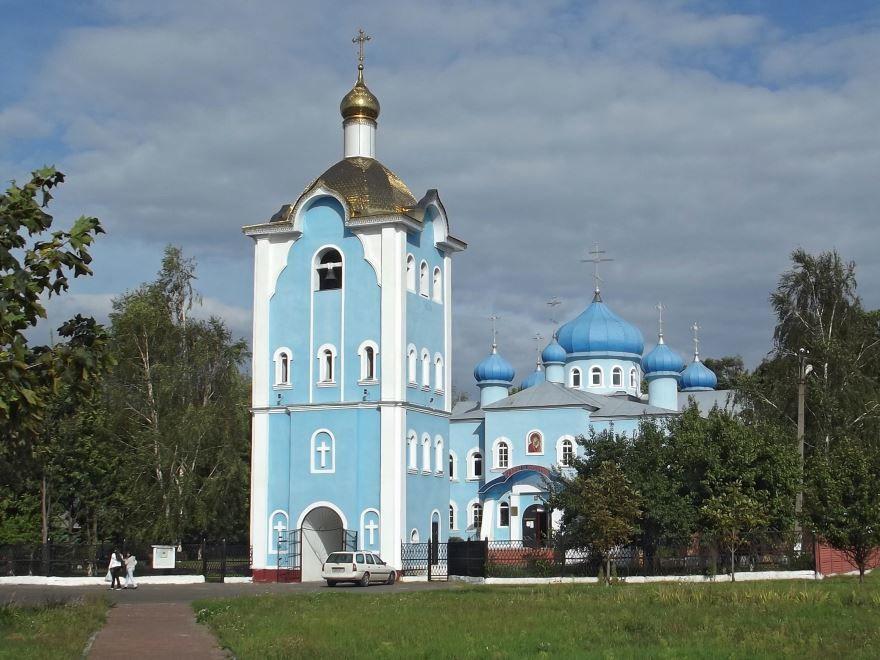Церковь Казанской Иконы Божьей Матери город Калинковичи
