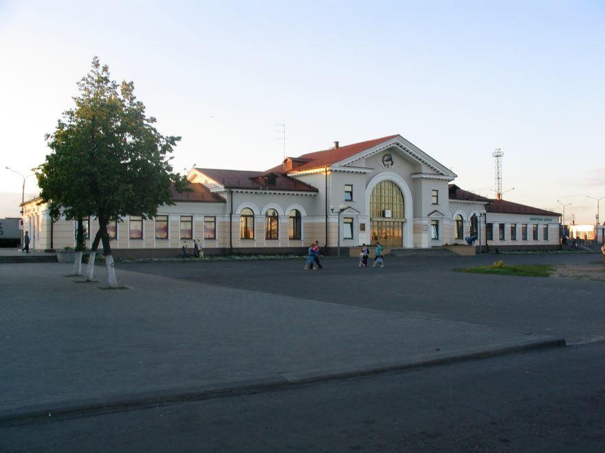Железнодорожный вокзал город Калинковичи 2019