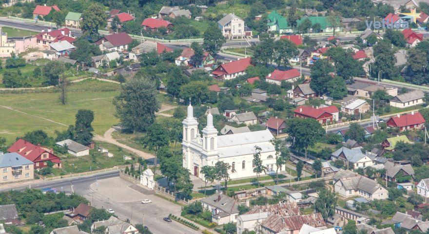 Панорама города Волковыск Белоруссия