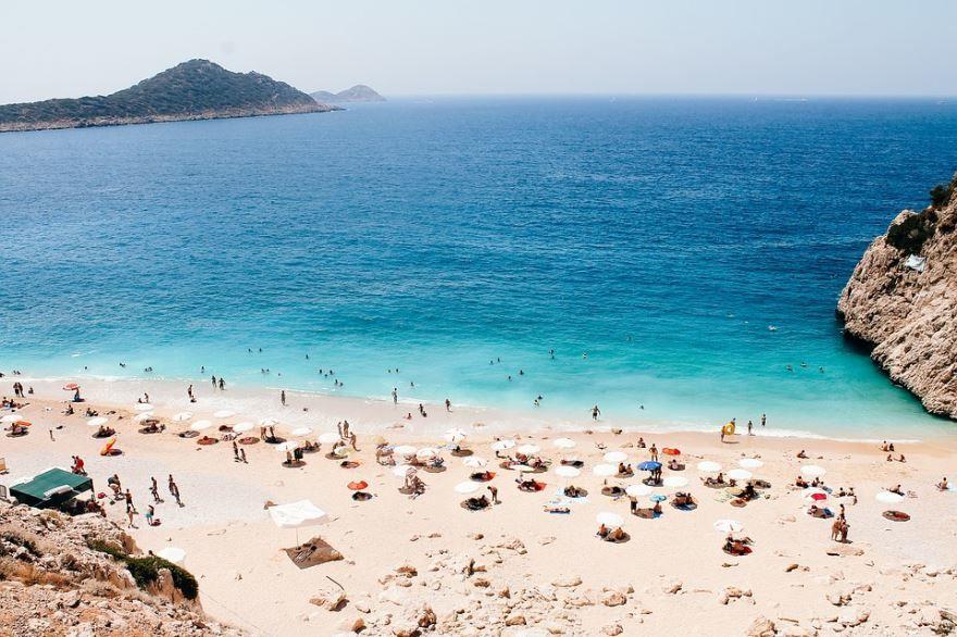 Пляж город Анталья 2019 Турция