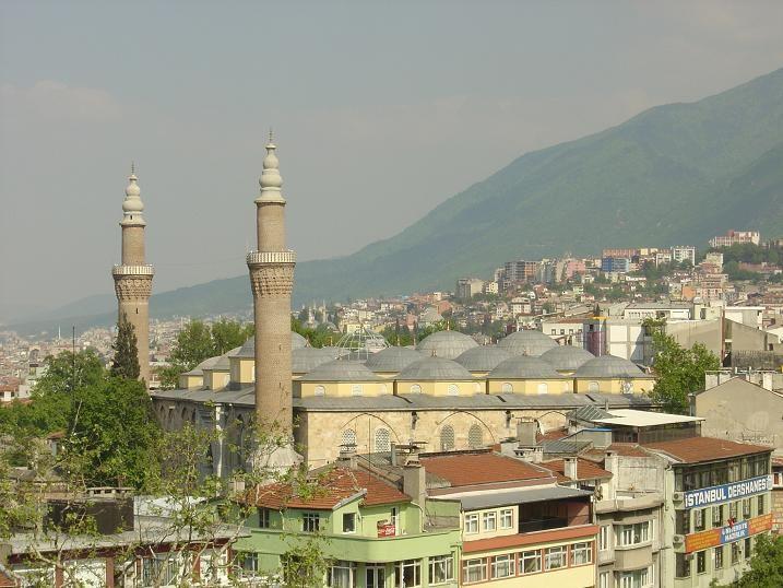 Вид на город Бурса Турция