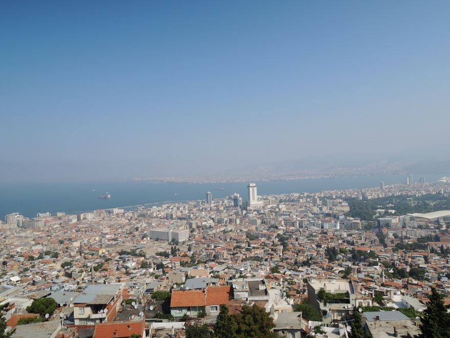 Вид на город Измир Турция