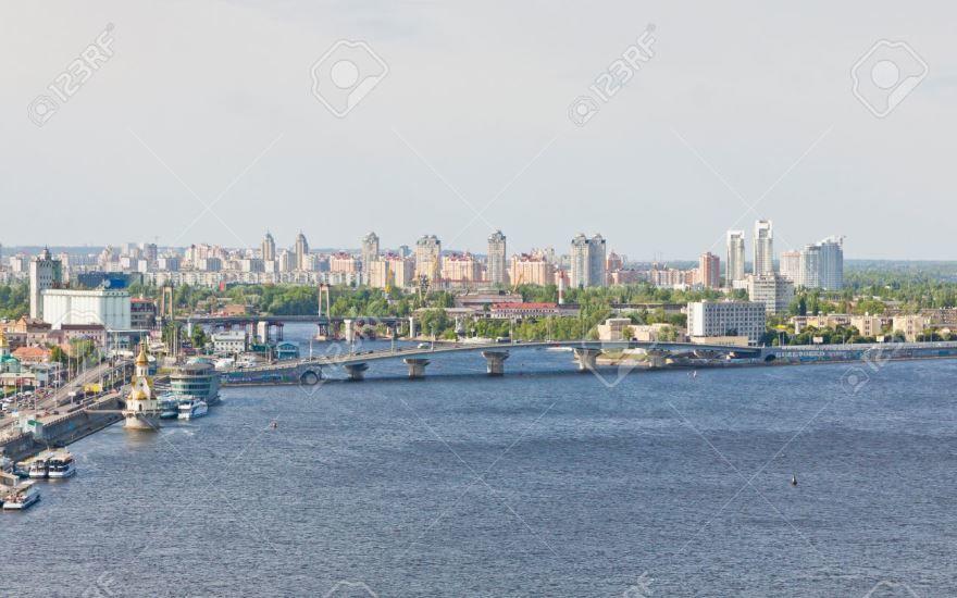 Вид на город Днепр Украина