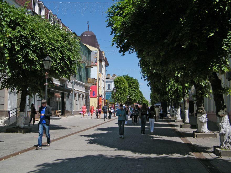 Улица город Луцк