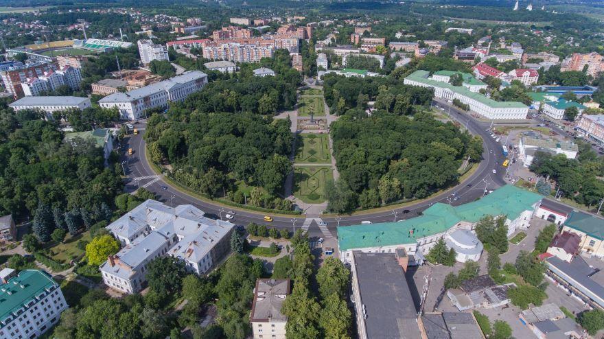 Вид на город Полтава Украина