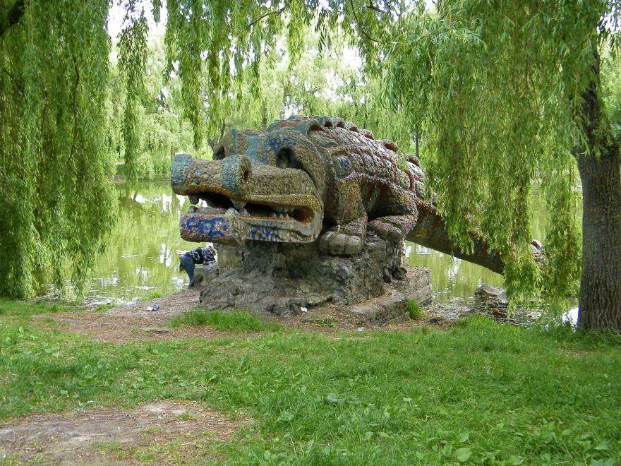 Крокодил в Гидропарке город Ровно