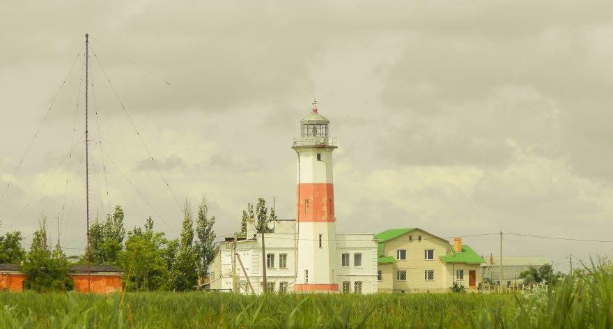 Нижний Бердянский маяк Дальняя коса город Бердянск