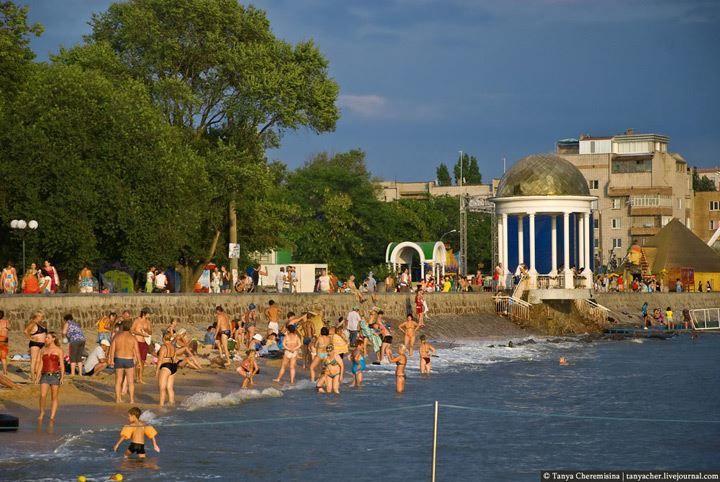 Пляж город Бердянск