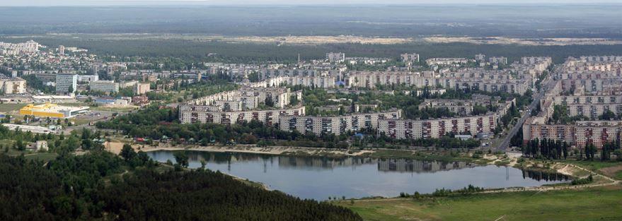 Вид сверху город Северодонецк