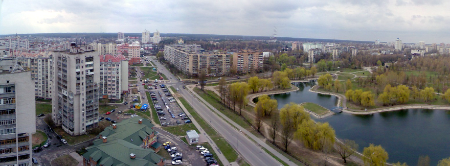 Панорама города Бровары 2019 Украина