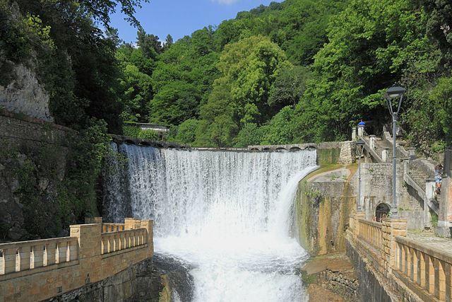 Водопад город Новый Афон