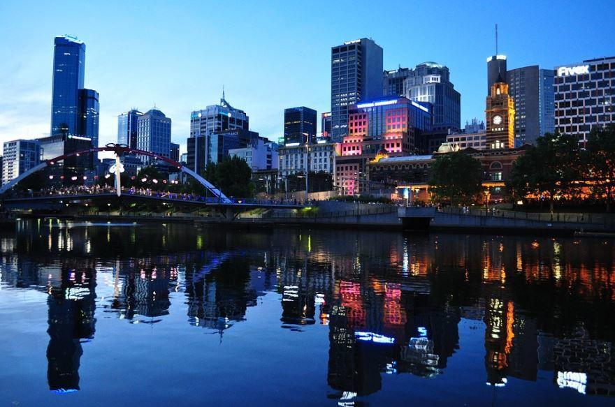 Вид на город Мельбурн Австралия