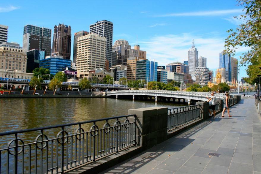 Набережная город Мельбурн