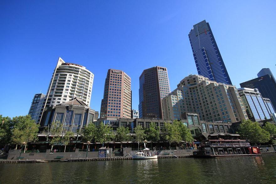 Красивый вид на город Мельбурн