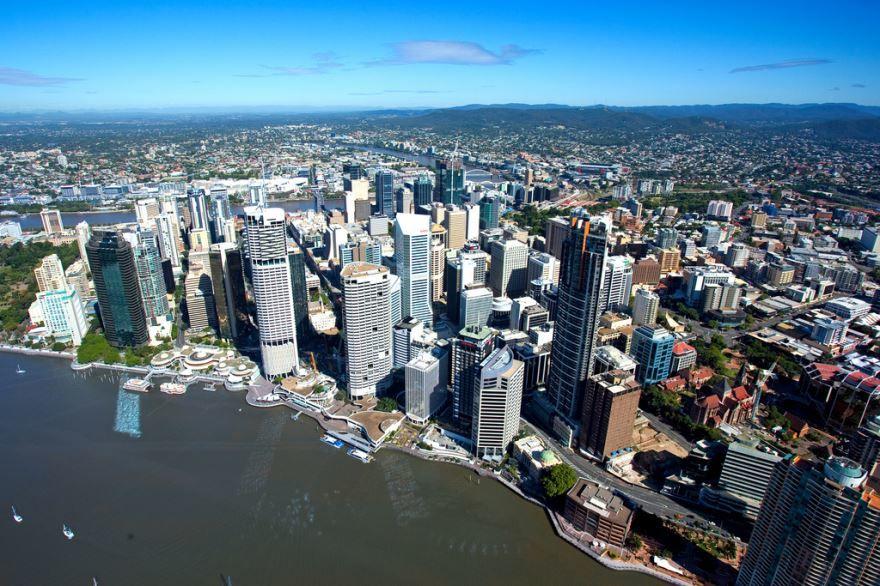 Панорама на город Брисбен Австралия