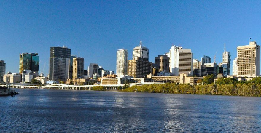 Вид на город Брисбен Австралия