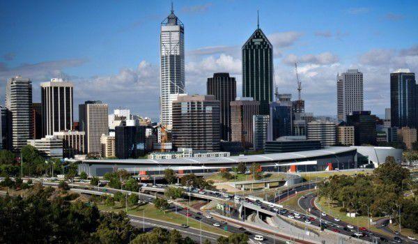 Панорама город Перт Австралия
