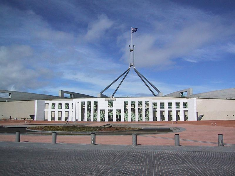 Новый парламентский дом город Канберра