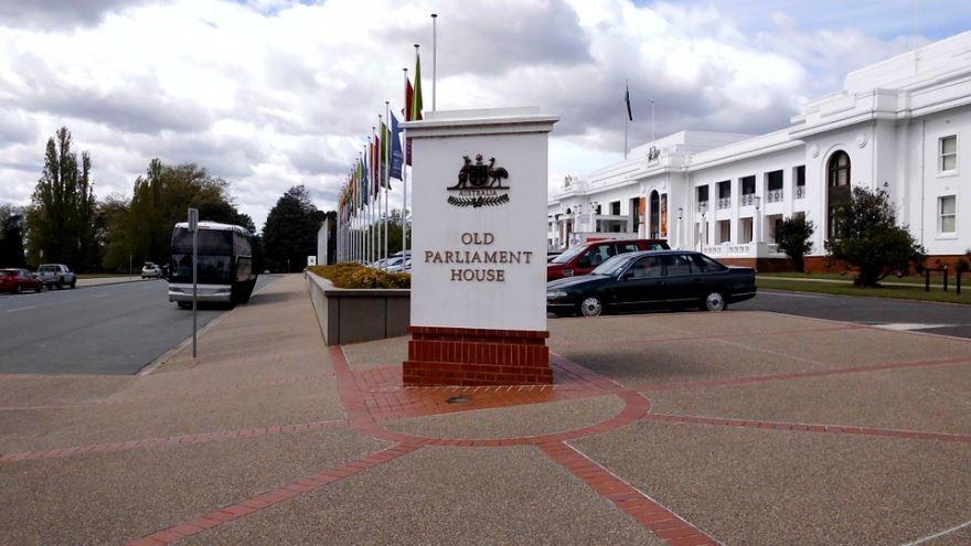 Старое здание парламента город Канберра Австралия