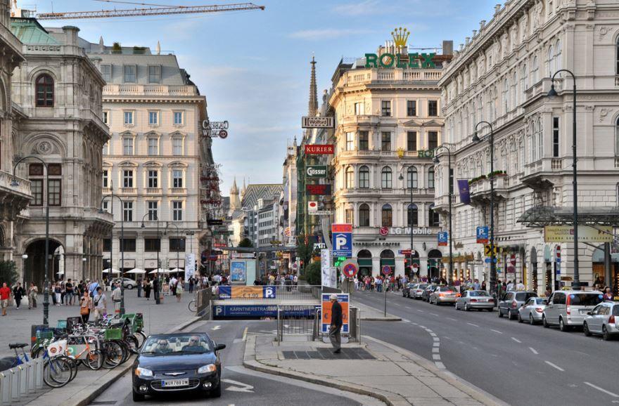 Улица город Вена