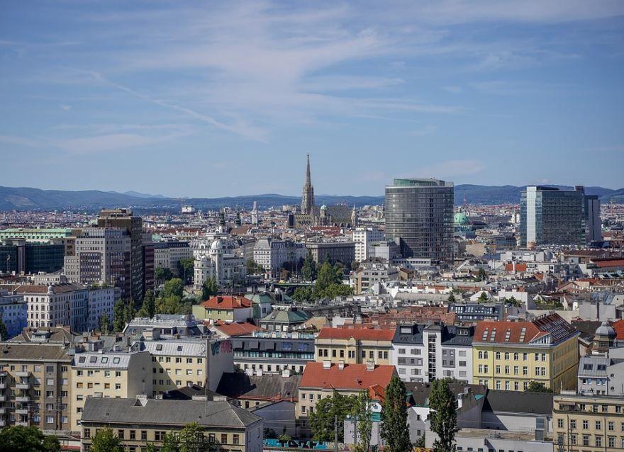 Панорама город Вена 2019