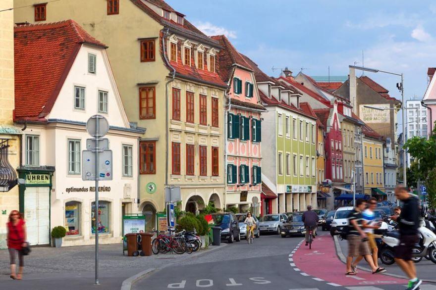Улица города Грац Австрия