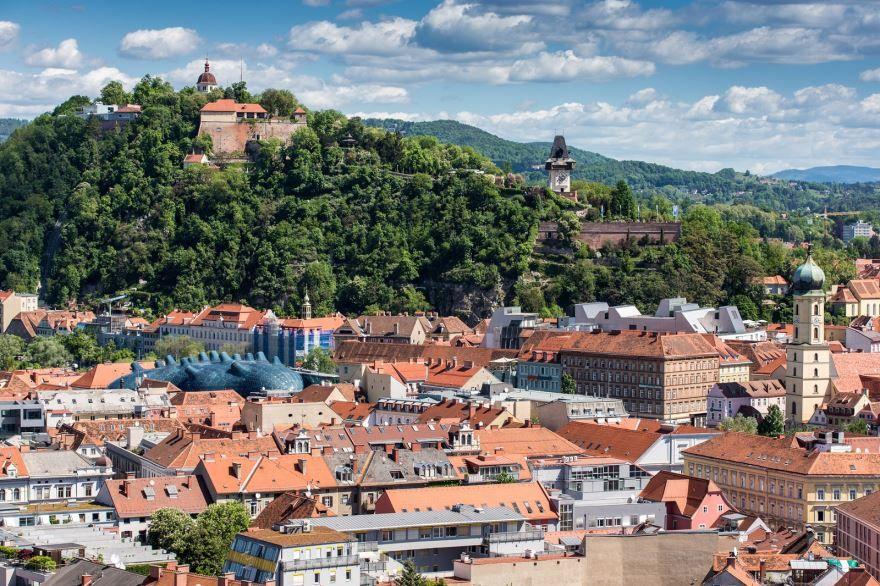 Панорама города Грац