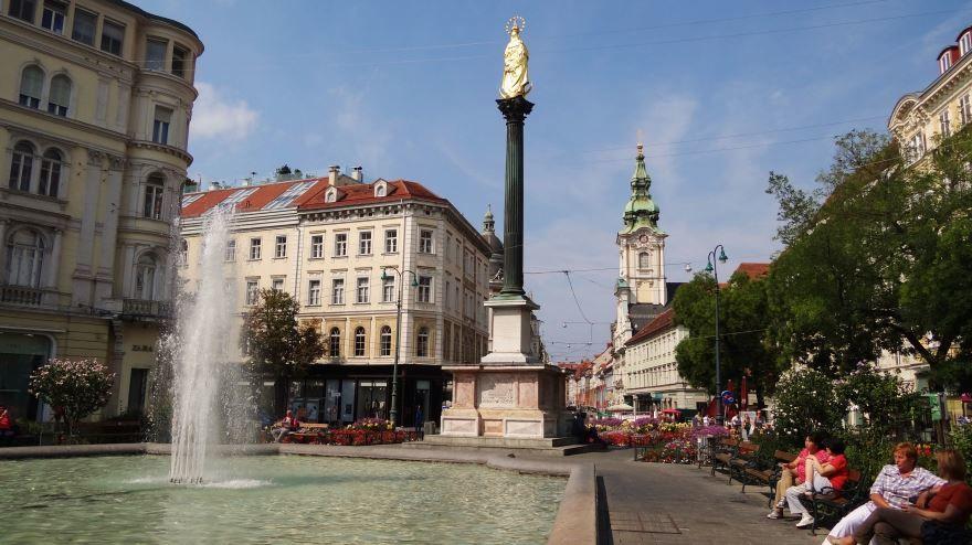 Площадь город Грац