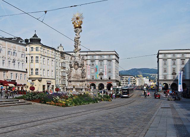 Улица город Линц Австрия