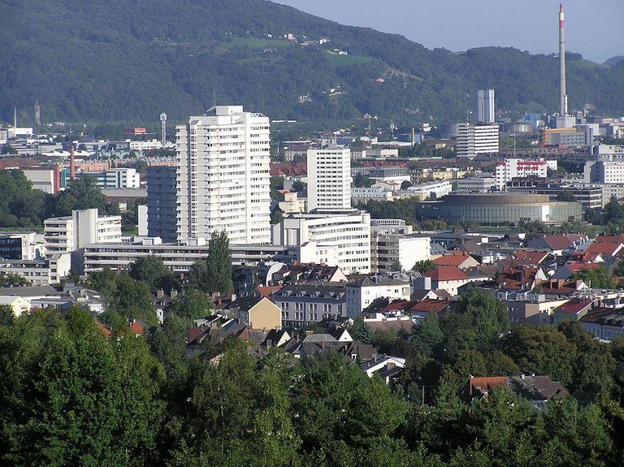Панорама города Линц