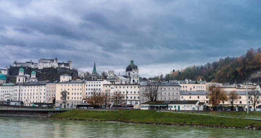 Панорама города Зальцбург Австрия