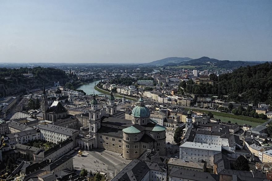 Панорама города Зальцбург 2018 Австрия