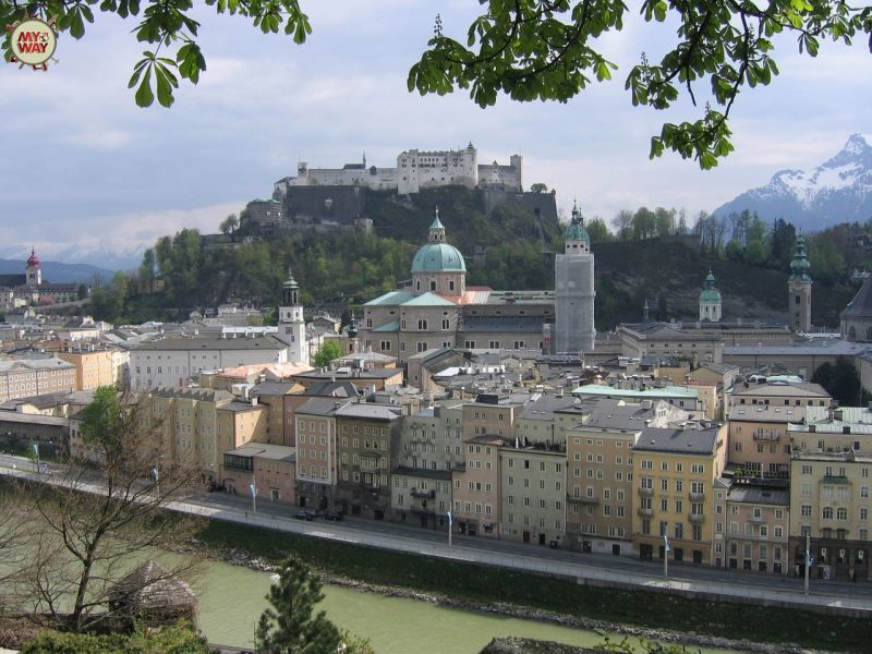 Вид на город Зальцбург Австрия