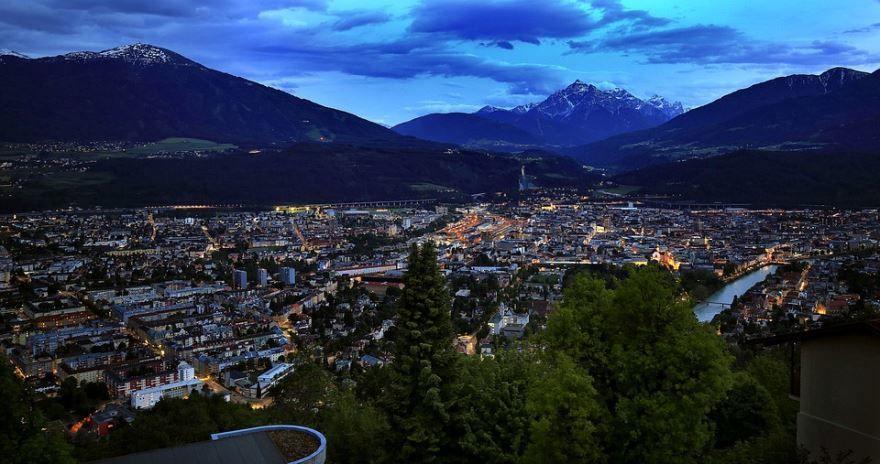 Смотреть красивое фото город Инсбрук