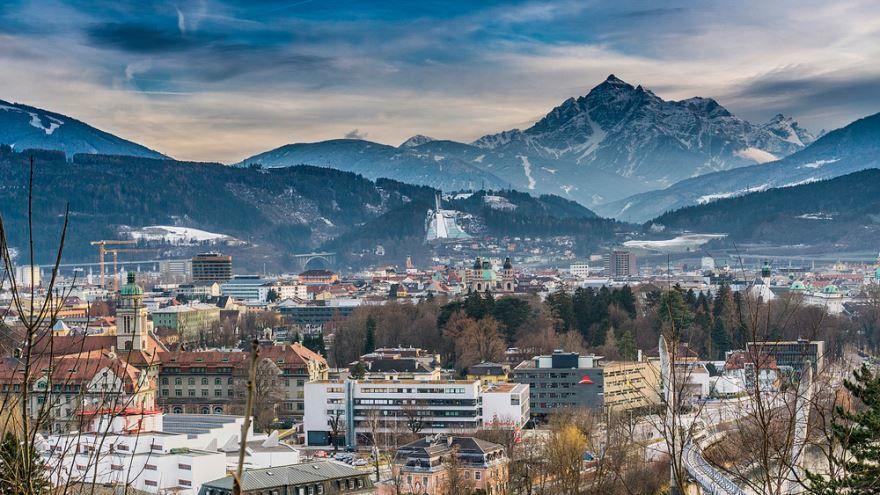 Панорама города Инсбрук 2019 Австрия