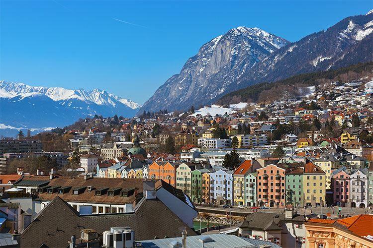 Вид на город Инсбрук