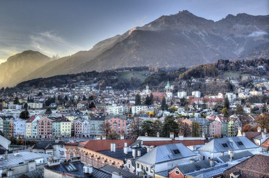 Панорама города Инсбрук
