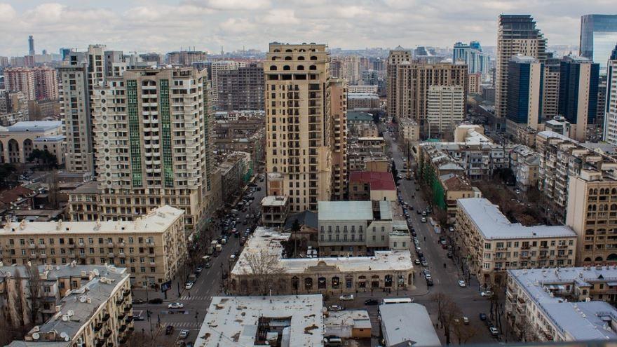 Красивое фото вид на город Баку 2018