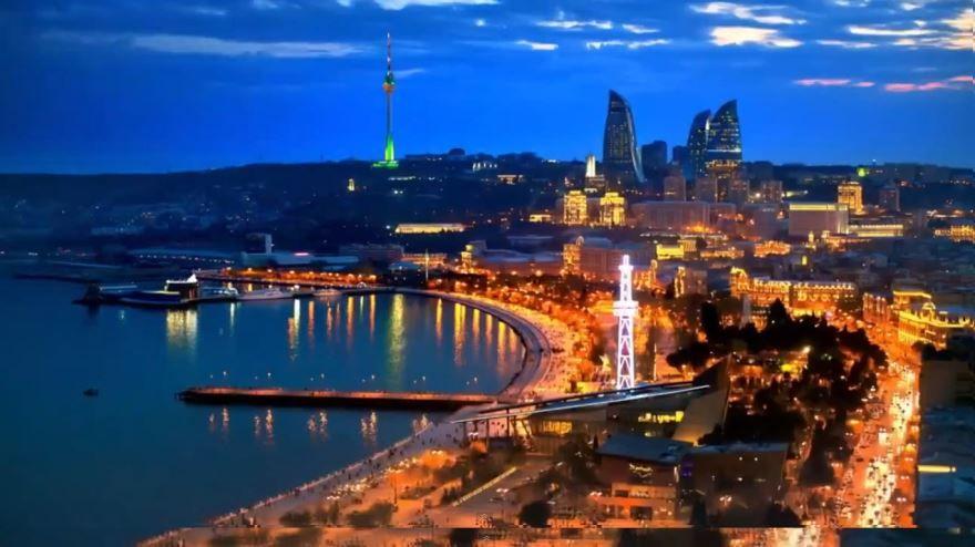 Приморский бульвар город Баку