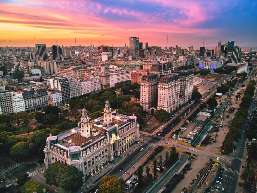 Панорама города Буэнос Айрес 2019