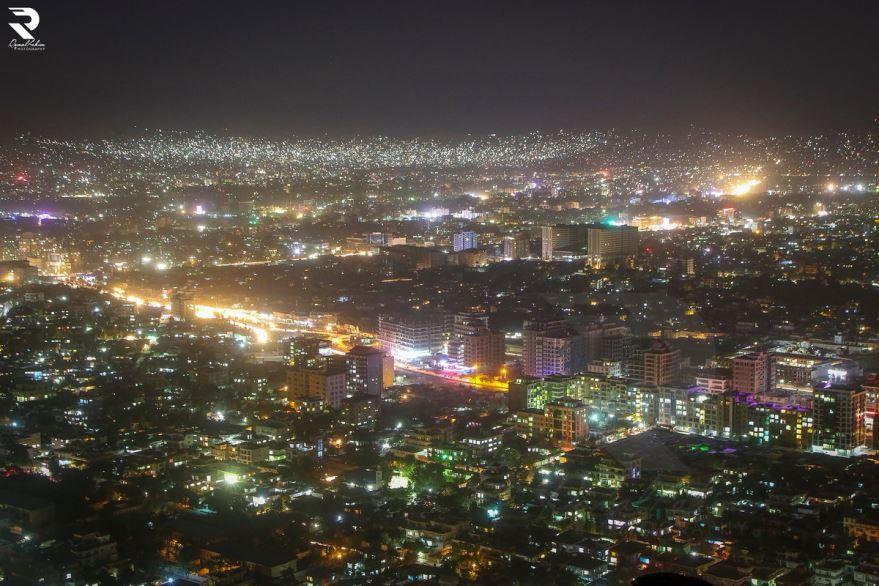 Ночное фото город Кабул