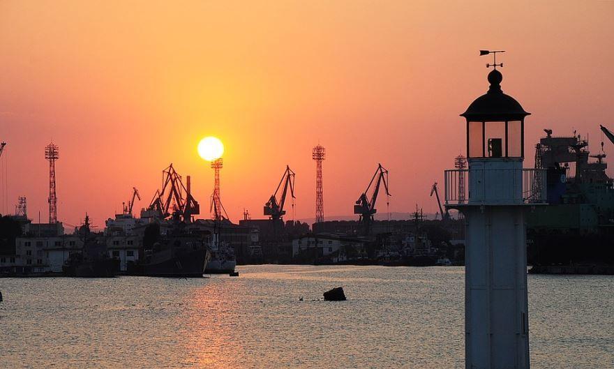 Порт города Варна 2018 Болгария