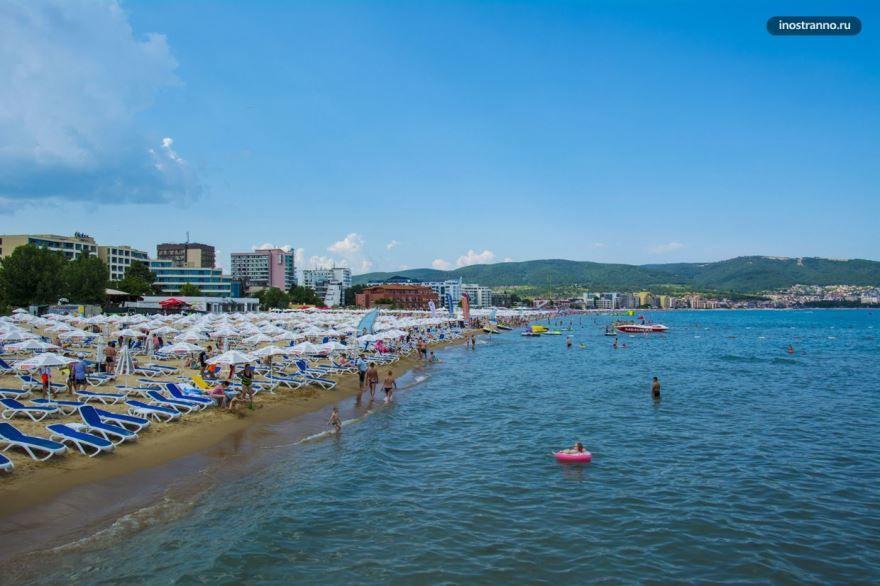 Пляж город Бургас