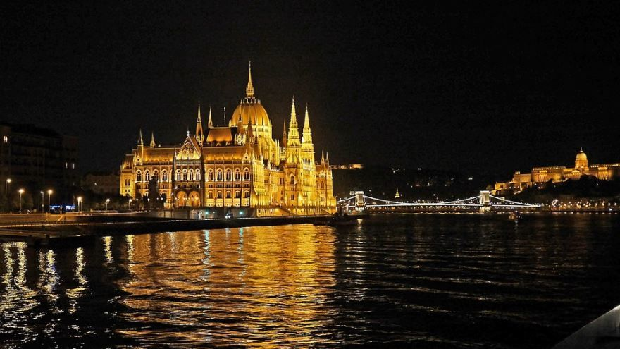 Ночное фото город Будапешт